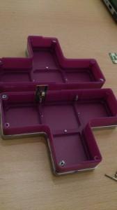 Aufgeschraubter Block mit LED