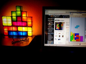 Tetrislampe (Kundenphoto)
