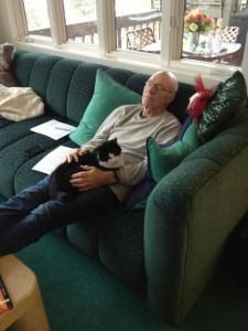 Patrick Stewart mit Mieze