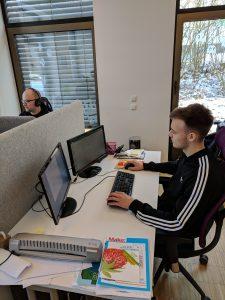 Morten im Kreativbüro bei getDigital